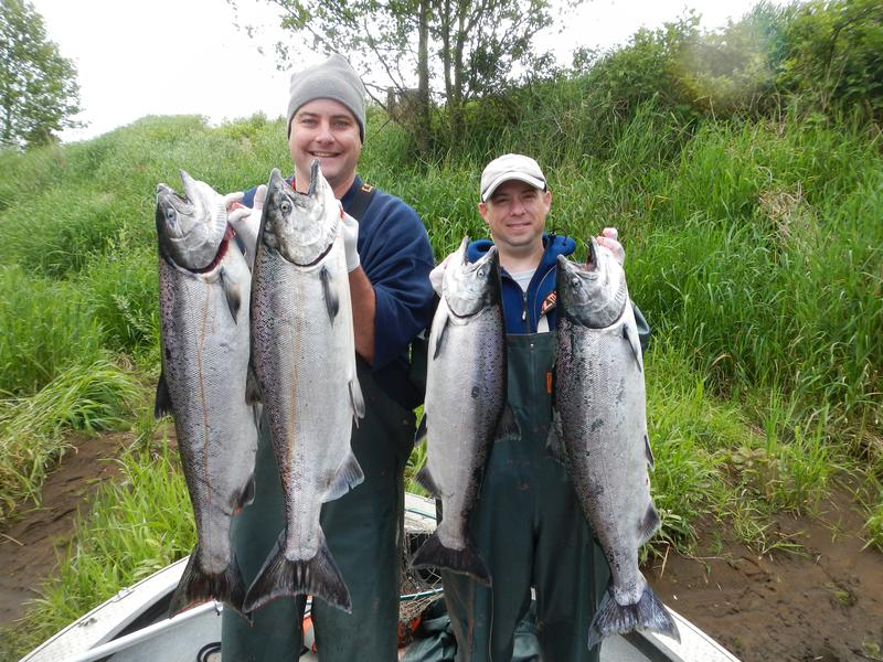 Trask river chinook salmon fishing for Salmon fishing season oregon