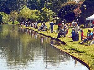 fishing at alton baker canoe canal in eugene
