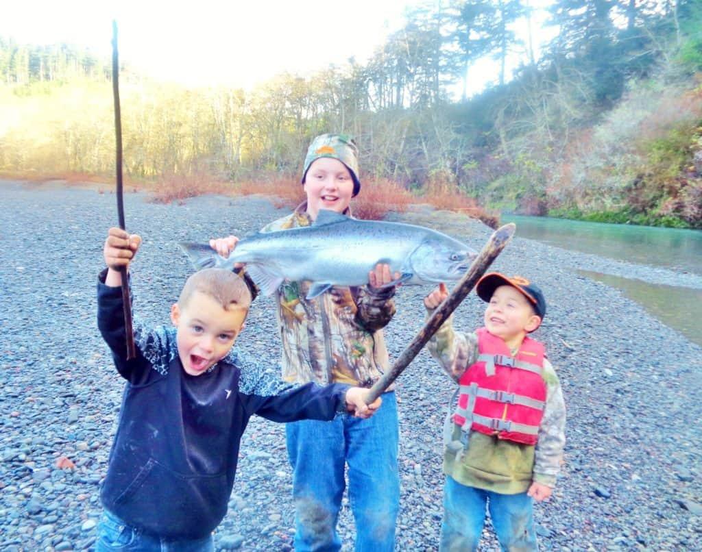 sixes river salmon fishing