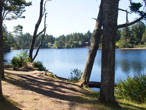 A scenic view of saunders lake.