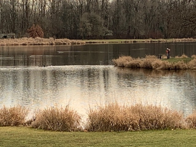 fishing at trojan pond aka recreation lake which is stocked with trout and also has bass and panfish