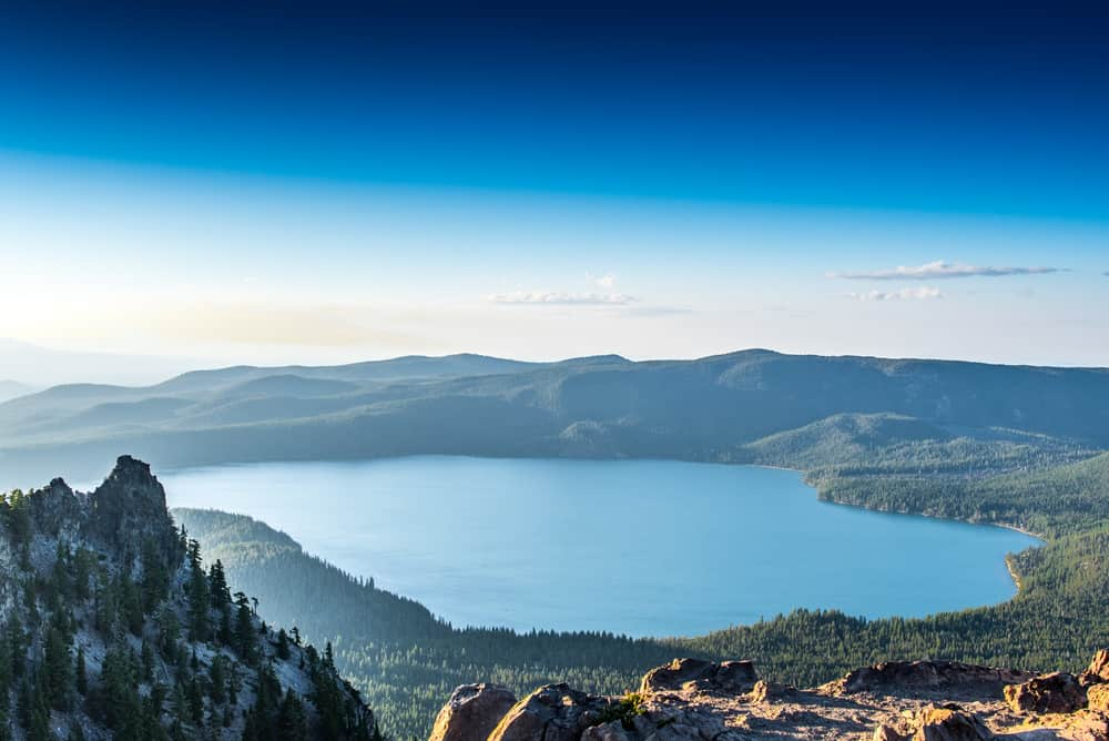 Overlooking Paulina Lake in Central Oregon