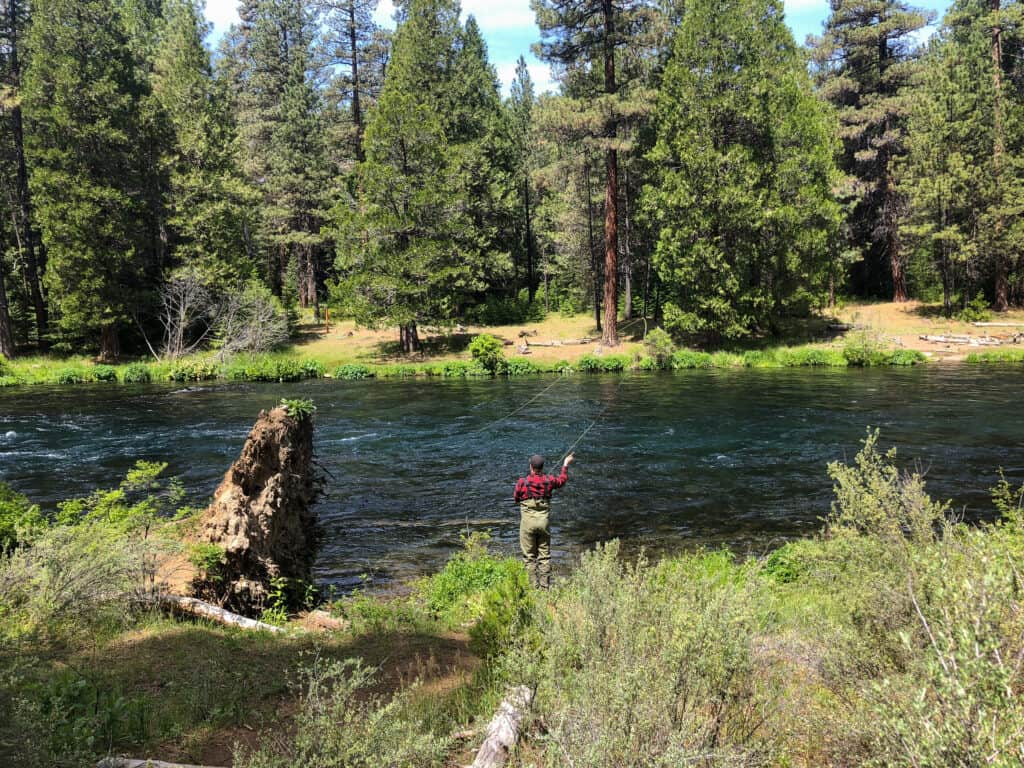 fly fishing in the metolius river