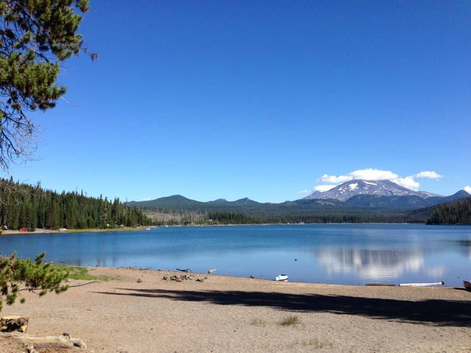 elk lake fishing and camping
