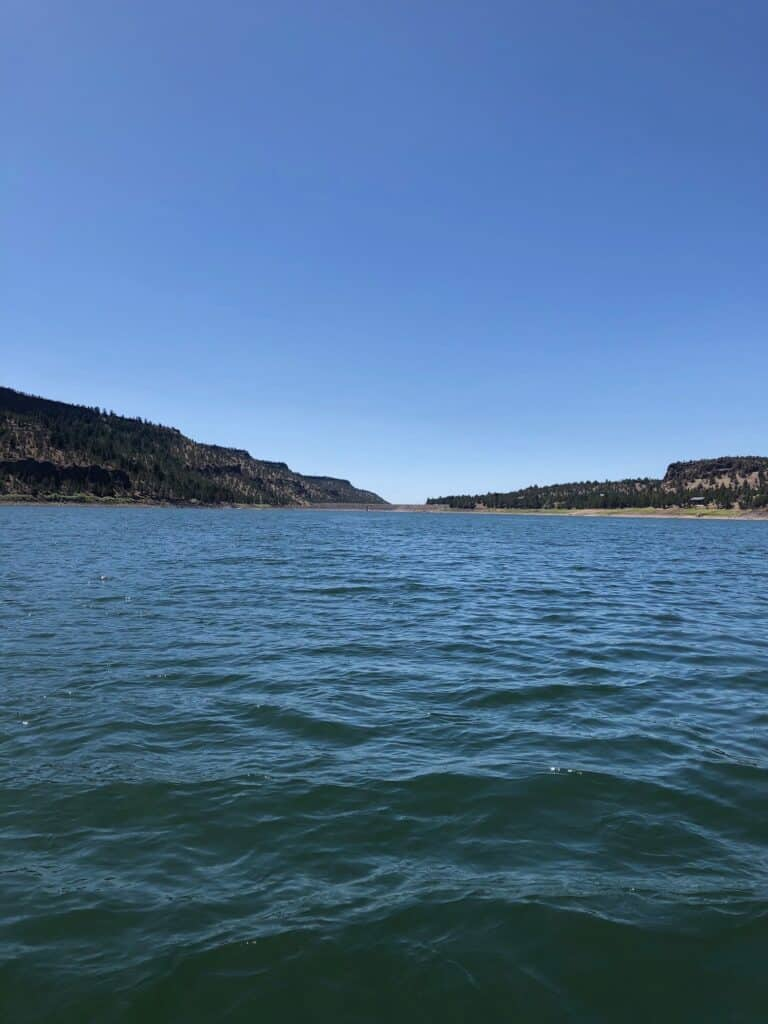 photo taken from out on ochoco reservoir