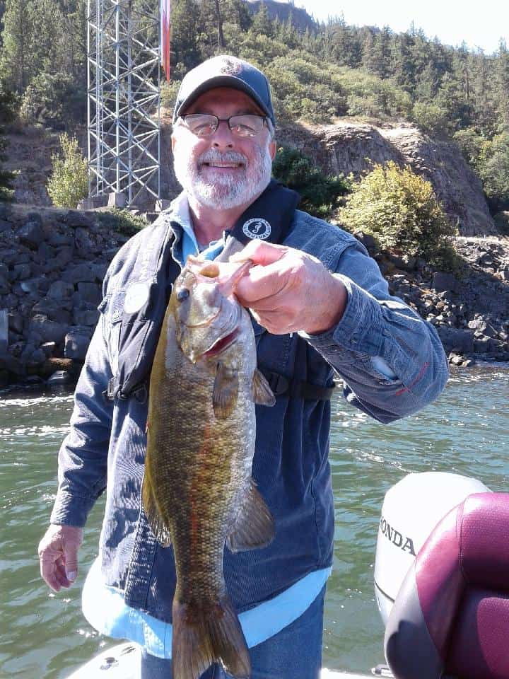Nice sized smallmouth bass caught in the Columbia River gorge