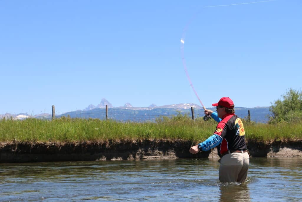 fly fishing the teton river in southeastern idaho