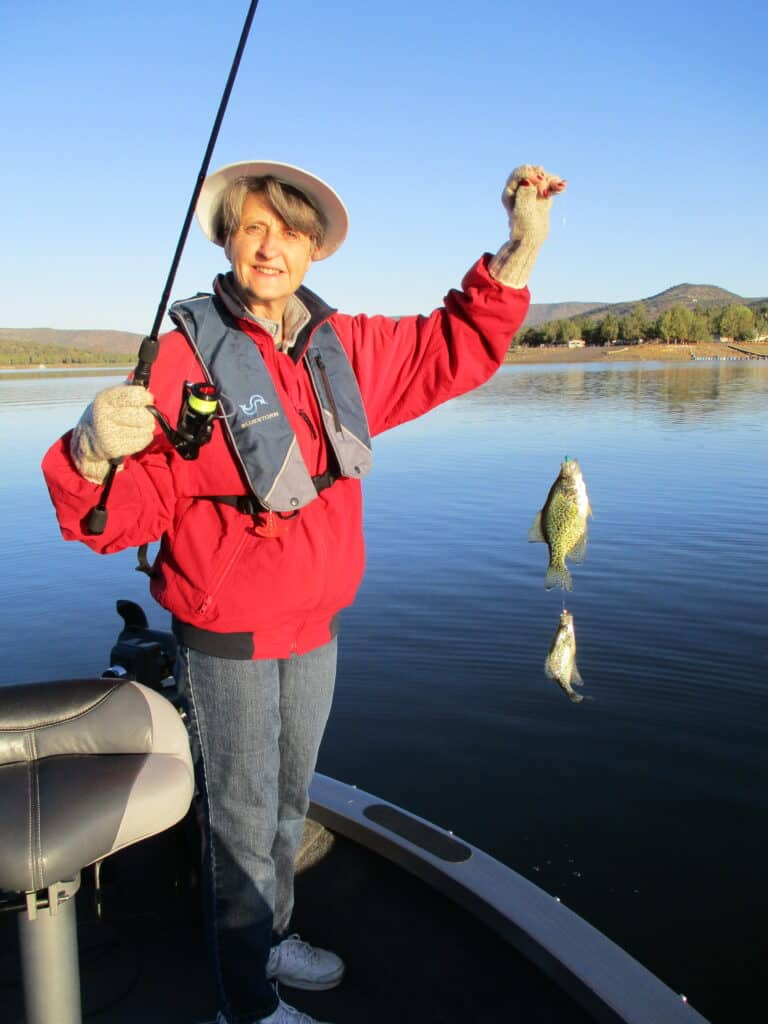 two crappie caught on one line at prineville reservoir
