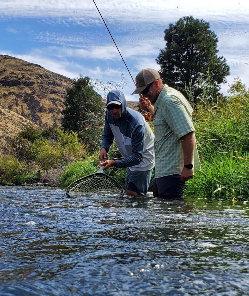 Netting a trout in central Washington's famous Yakima River