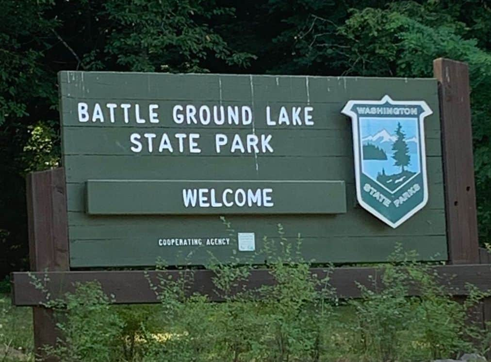 sign for battle ground lake state park