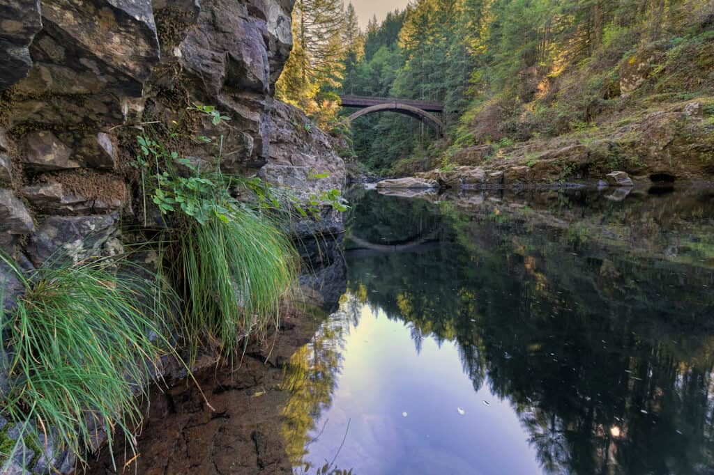 lewis river below moulton falls