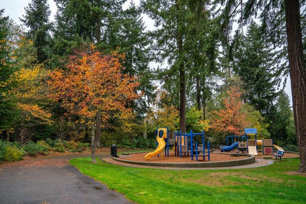 angle lake playground area in SeaTac