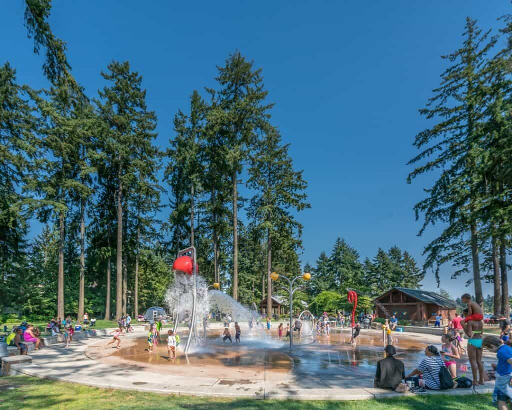 splash park at angle lake in SeaTac, washington