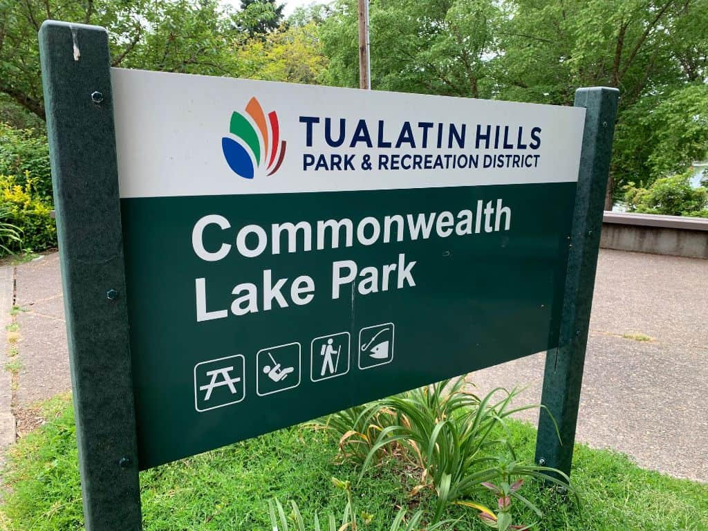 sign for commonwealth lake park