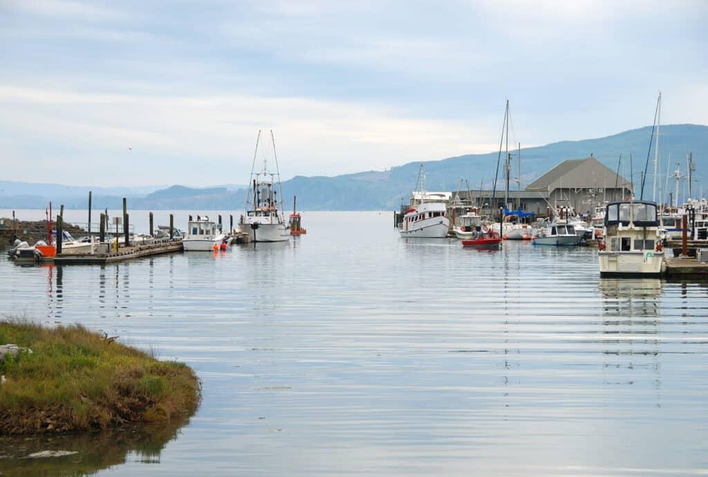 boat basin in the town of wheeler on nehalem bay