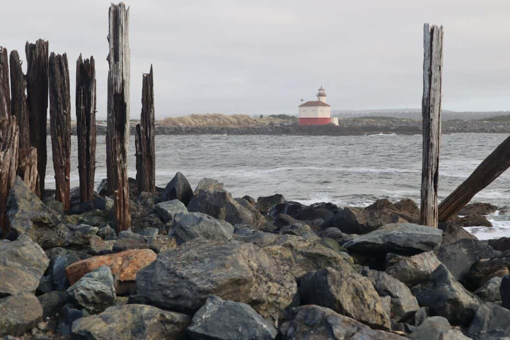 Lighthouse at Coquille Bay in Bandon Oregon