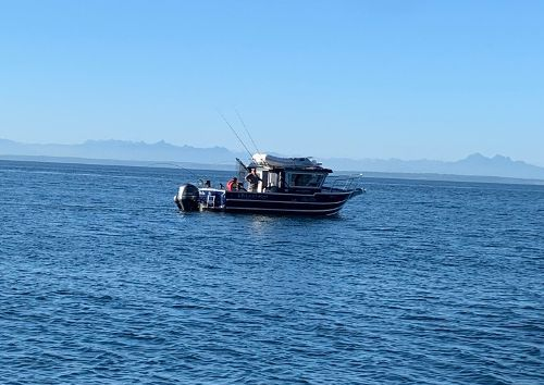 boat fishing off the san juan islands