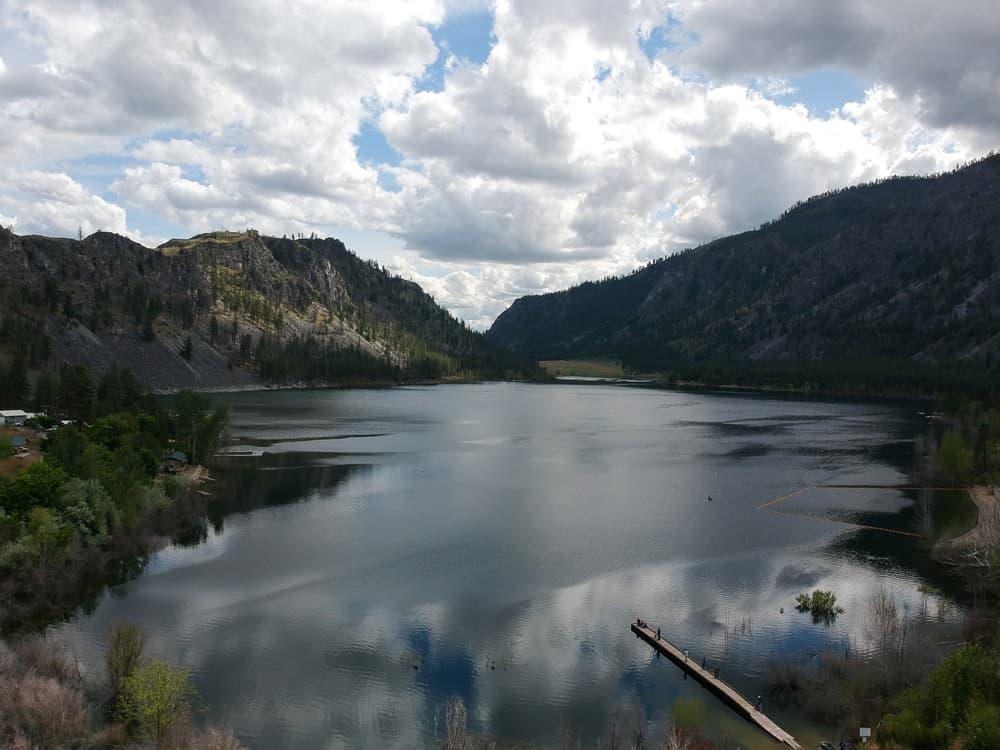 scenic alta lake in okanogan county washington
