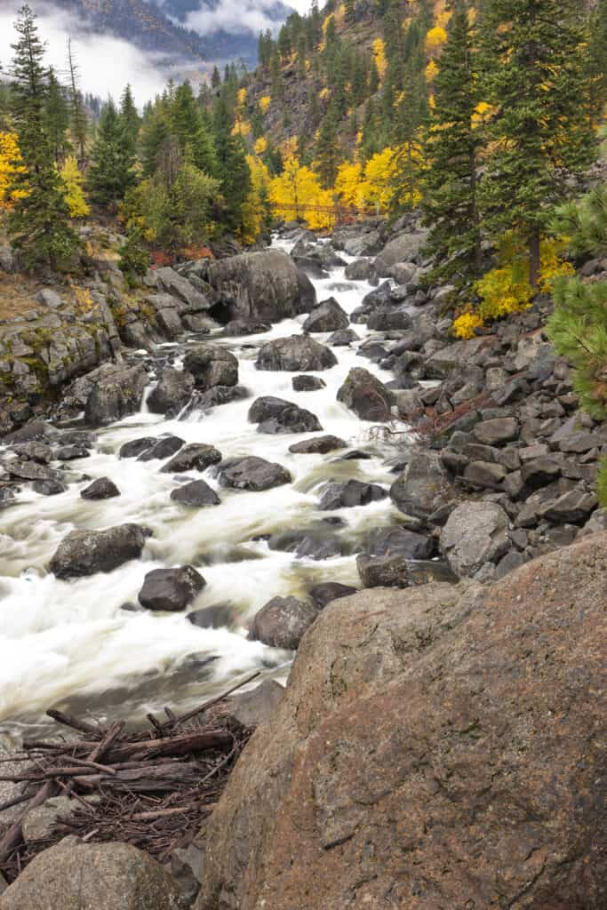 Icicle Creek near Leavenworth, Washington.