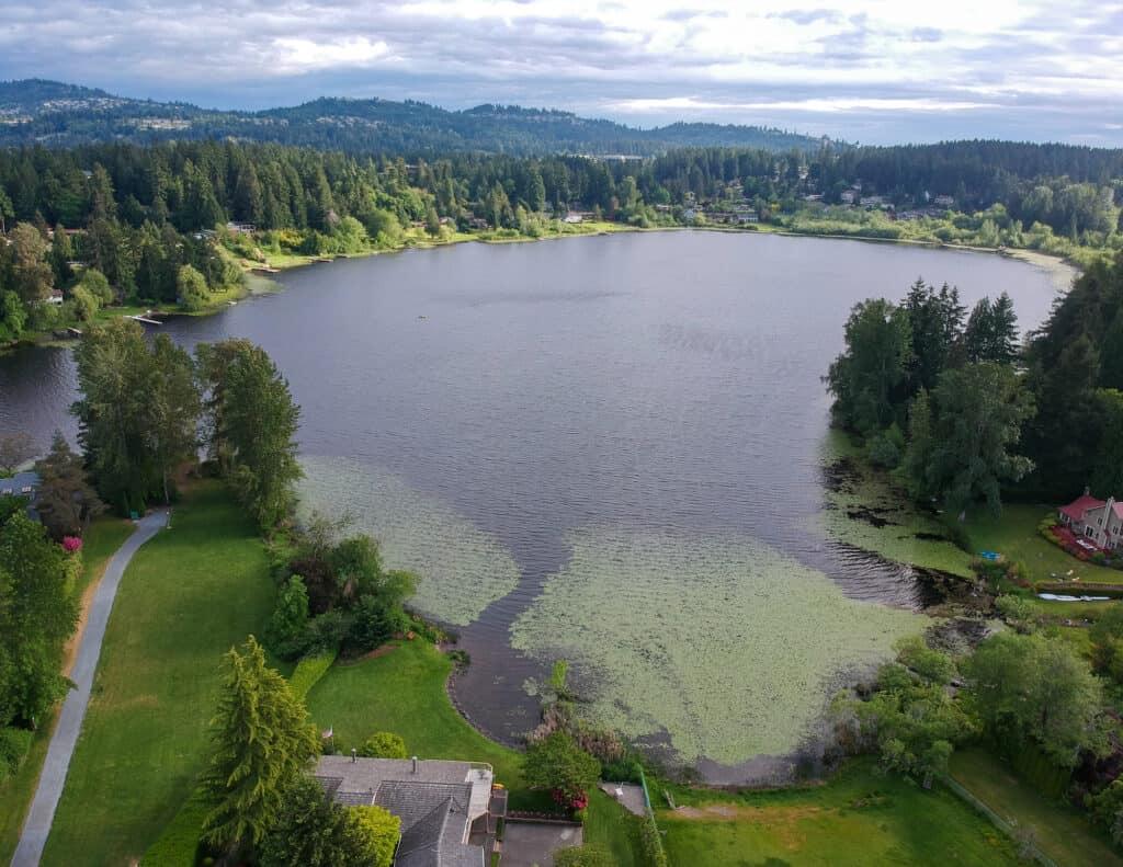 Aerial view of Phantom Lake