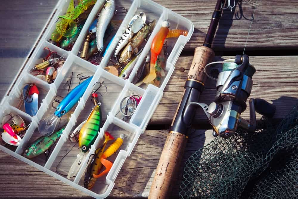 A tackle box full of bass lures