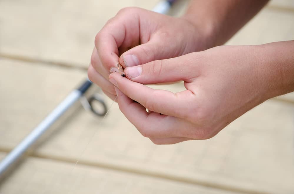 baiting a fish hook