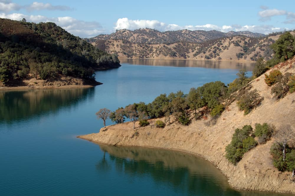 scenic view of lake berryessa in California's Napa County