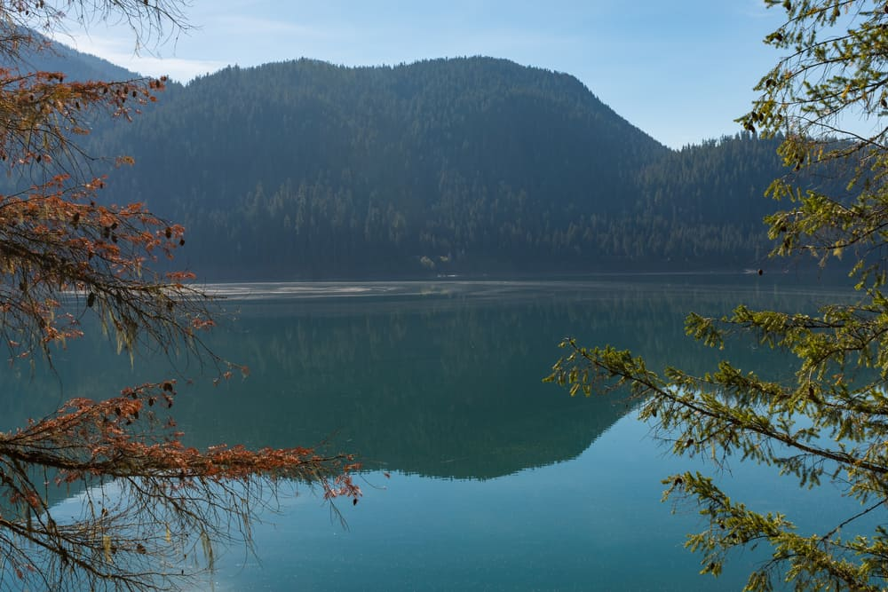 Scenic photo of Baker Lake in North Cascades area of Washington state