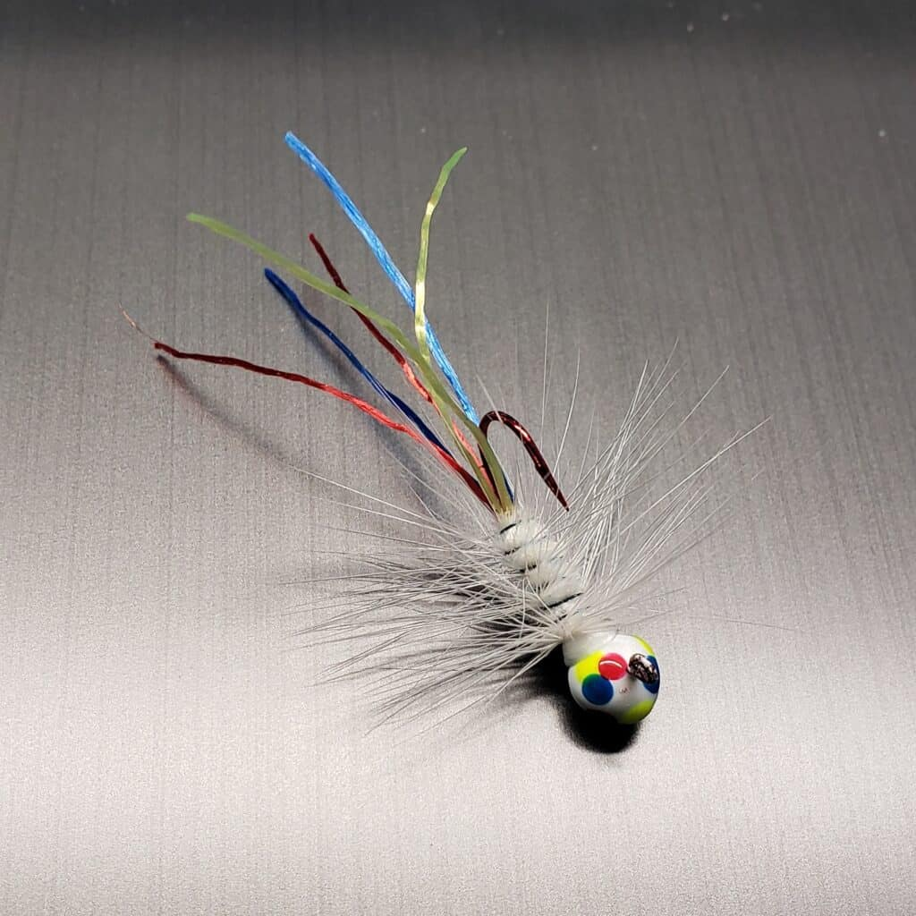 A Firefly Jig made by Sake Tackle using a Wonder Bread design. This jig is most popular for crappie fishing.