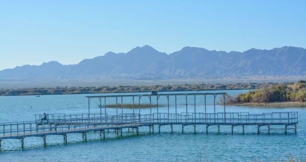 Fishing and view piers provide access to Lake Havasu.